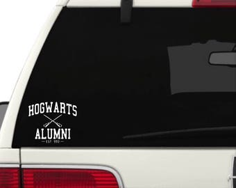 Harry Potter - Hogwarts Alumni - Vinyl Decal Sticker - Attach to Any Smooth Surface - Cars, Windows, Laptops, Walls, ect.