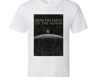 From The Earth To The Moon Distressed Poster Tv Show Fan T Shirt