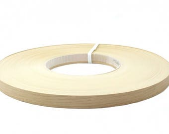 "white frosty pvc pre glued  edgebanding  7/8""x100'"