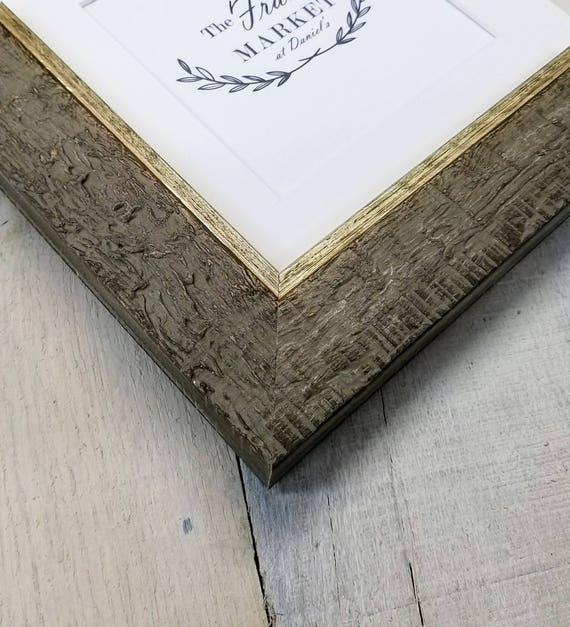 Haven Dark Distressed Wood Picture Frame With White Mat