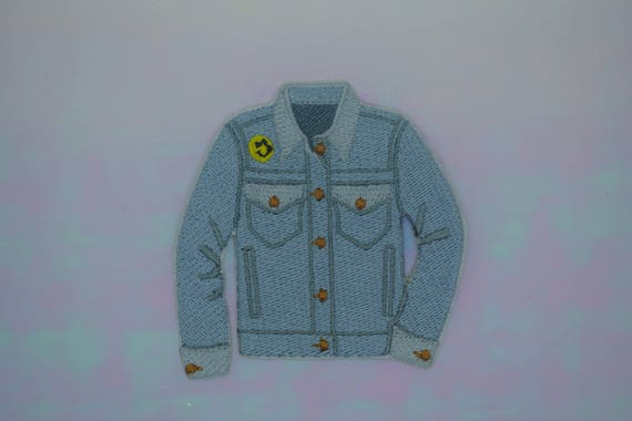 Patched Denim Jacket Iron on Patch