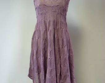 Special price. Artsy Summer grape linen dress, M size. Sexy look, only one sample.