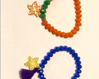 Bracelet star pompom