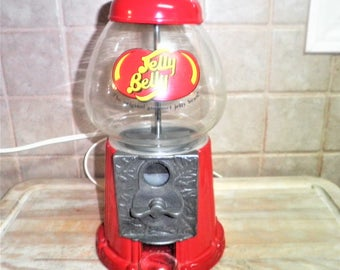 Vintage Jelly Belly metal and glass gumball matchine
