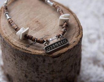 Lunar Moon Phrase Beaded Bracelet