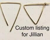 custom 2 earring set for Jillian