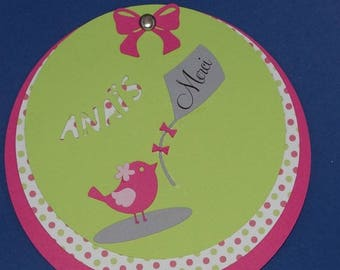 Circle bird thank you card