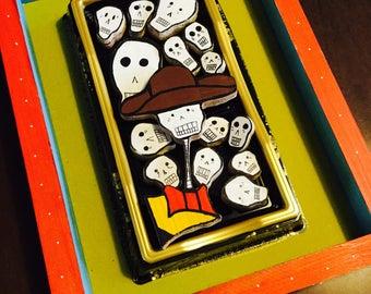 """Dia de Los Muertos (Day of the Dead) Art (Nicho) """"Paranoid Charro"""""""