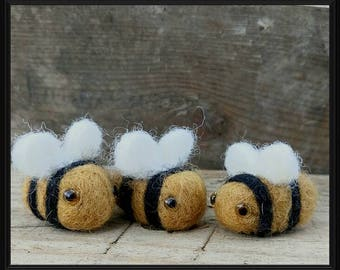 Felt Bee,  Save the bees,  Needle Felted Bee Gift.