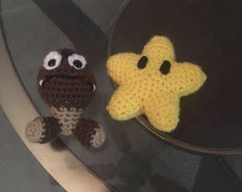 Mini goomba and invincibility star