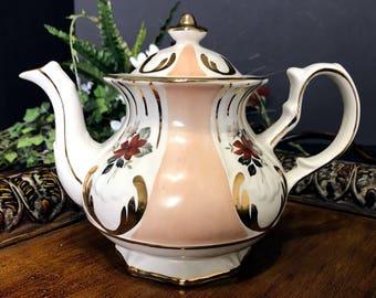 Rare Price Kensington Teapot, Floral 4 Cup Tea Pot, Made in England