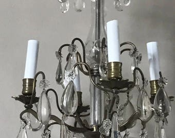 Antique French Crystsl Chandelier