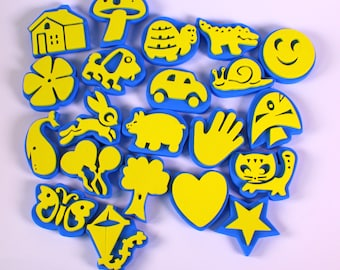 Assorted Shape Craft Foam Stampers Pack of 24 Washable Sturdy Foam Stampers