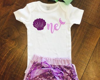 Mermaid One Girls Onesie