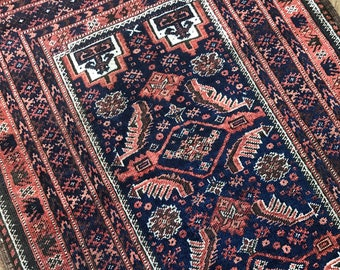 "3'3""x8' Vintage Persian Balouch Runner"