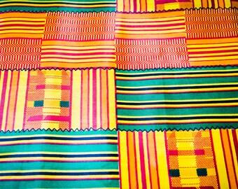 African Wax Kente Fabric