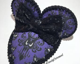 Haunted Mansion Purple Wallpaper Mouse Ears Fascinator