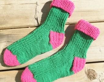 Youth shoe size 4-5, Knitted Socks, Warm Winter Socks