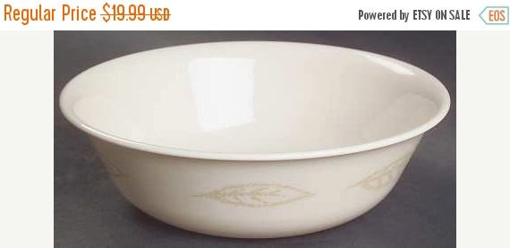 ON SALE Corelle Textured Leaves Soup Cereal Bowl Lot of 2 Gold