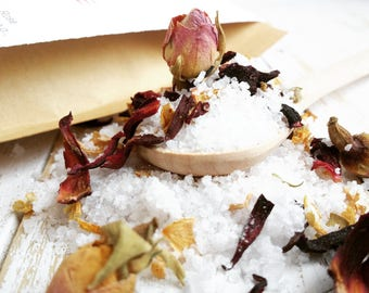 Hibiscus Bath Salts, Rose Bath Salts, Floral Bath Salts, Organic Bath Salts, Natural Bath Salts, Cinnamon Bath Salts, Rose Bath Soak