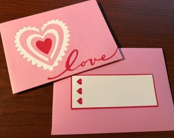 Ruffled Heart Love Card