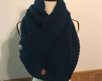 Crochet Button Cowl