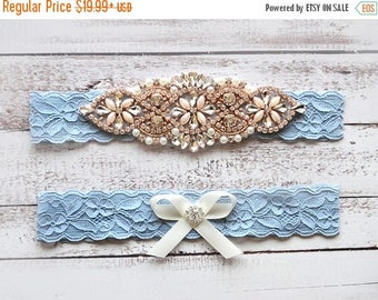 ON SALE Wedding Garter, NO Slip Lace Wedding Garter Set, bridal garter set, pearl and rhinestone garter set, vintage rhinestones Style A2014