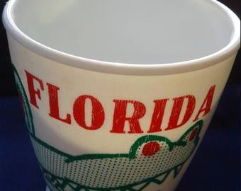 Florida Plasric Gator Mug/Made in USA