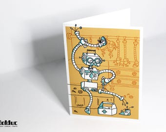 Greeting card - medical Robotics