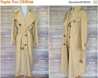 ON SALE 20% OFF 1970s Trench Coat | Trench Coat | Etienne Aigner Trench | Classic belted trench | Floor length trench coat | vtg trench coat