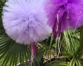 Set of (12 tullelpoms for weddings birthday parties, photo Props and more...