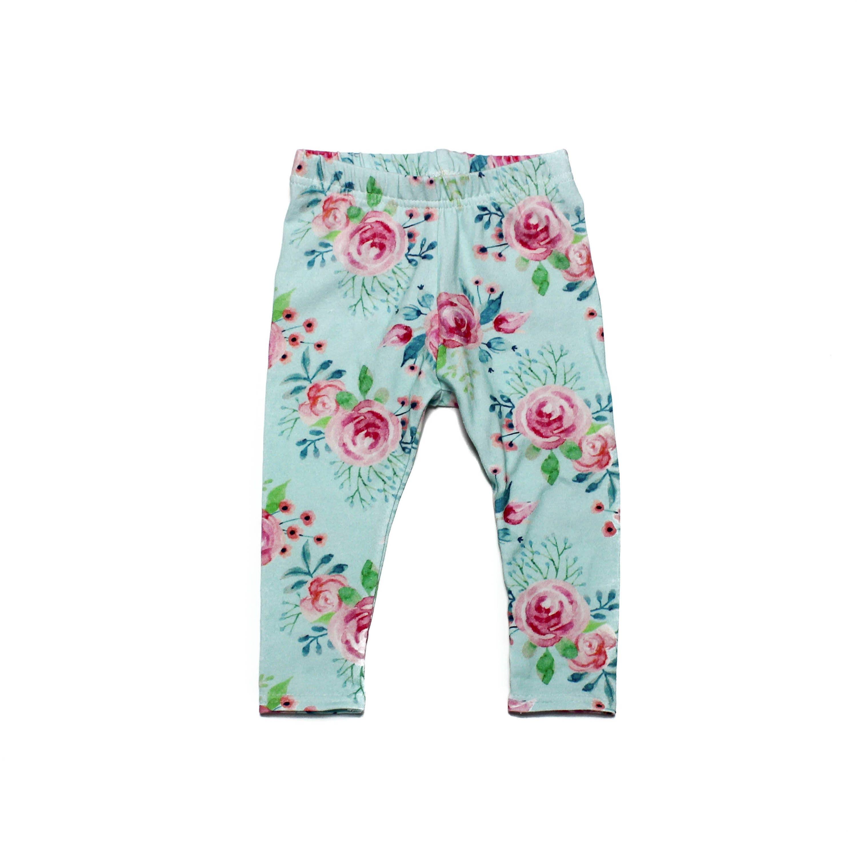 Pink Flower Leggings Little Girl Leggings Baby Girl