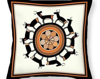 Southwest Mimbres Deer Tote Bag Design Gift - Southwest Tribal Design SilkyPoly Throw Pillow - Laptop Bag - ReUsable Shopping Grocery  Bag