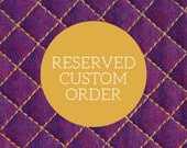 Custom Oven Mitt and Potholder Order for Elizabeth