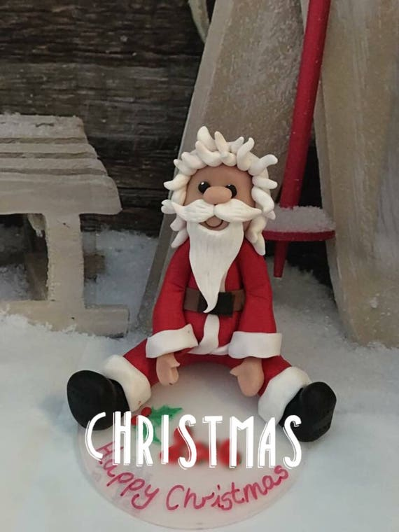 Father Christmas/santa figure - decoration, sculpture or cake topper