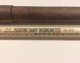 Vintage Floating Dairy Thermometer