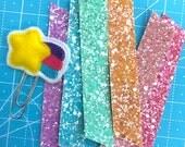 6 count rainbow pack glitter washi