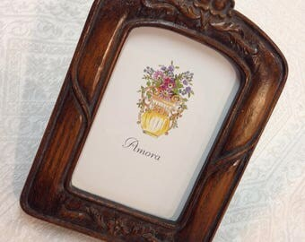 Rare Victorian 3.5 x5 French Decorated Embellished Photo Picture Frame