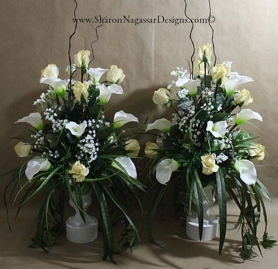 1 Pc, Altar, Arrangement/centerpiece, Ivory, White, Real