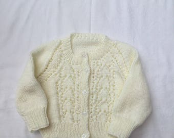 Hand Knitted Lacy girls cardigan