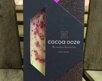 Raspberry White Artisan Luxury Chocolate Slab