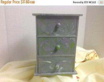 BIG SALE 50% OFF Wooden Storage Chest for Jewellery or anything you would like , women , men , one of a kind , unique