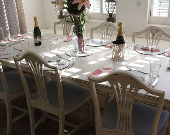 lovely shabby chic dining table u0026 4 chairs french gustavian hand painted in annie sloan