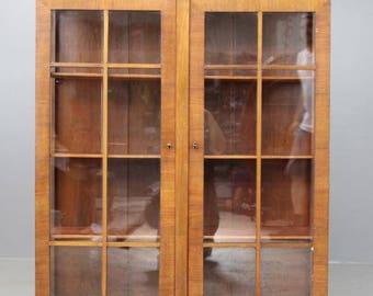 Art Deco 1930s Glazed Display China Cabinet