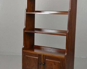 Small Mahogany Bookcase Shelving Unit