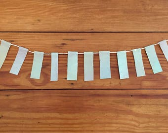 Pale Gray Green Painted Scrap Banner
