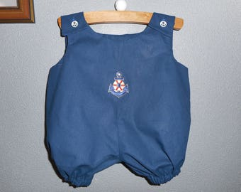 onesie / Bodysuit Navy patch anchor 0-6 months