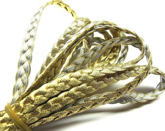 BRAID DOUBLE SIDED GOLD AND SILVER 7 MM TO 30CM BY 30CM