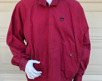 Vintage Red Polo Ralph Lauren Cotton Jacket Size XL