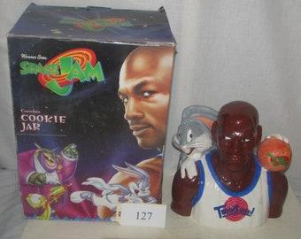 1996 Warner Bros Space Jam Michael Jordan Cookie Jar